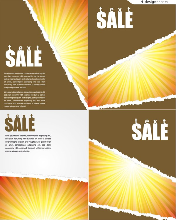 Tear off poster background vector material