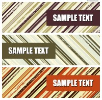 Twill decorative banner vector material