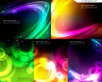 Various vector material of dynamic glare background