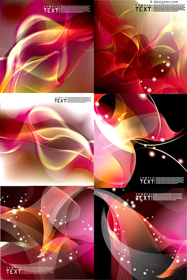 Various vector materials of stunning dynamic background