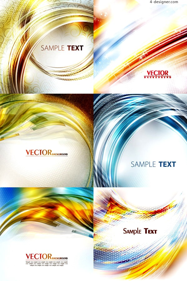 Various vector materials of stunning dynamic glare background
