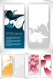 Vector material for designing abstract flowers panel