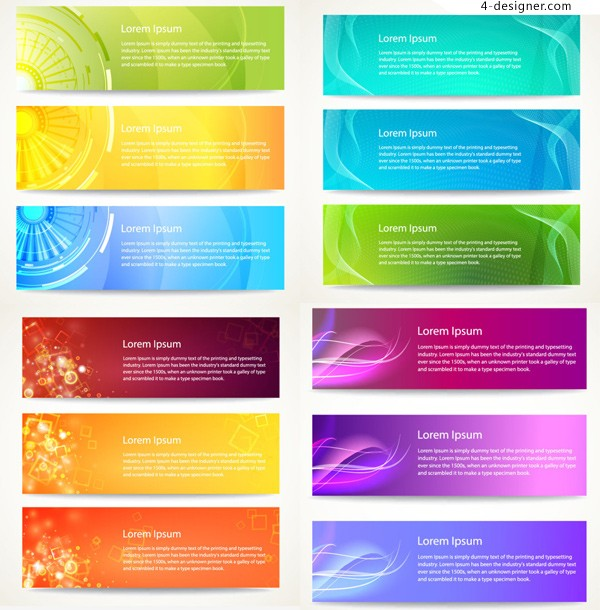 Vector material for designing colorful fashion banner