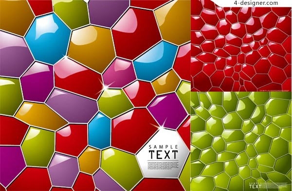 Vector material of 3D honeycomb background