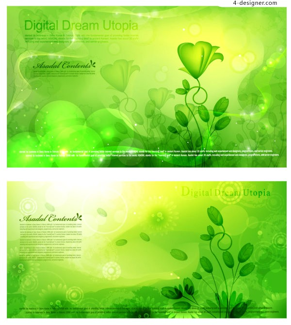 Vector material of Spring green fantasy background