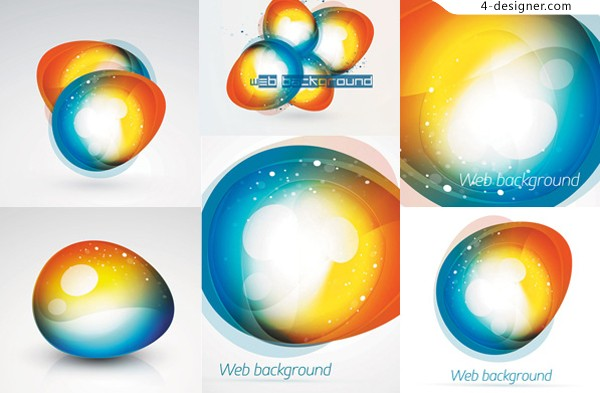 Vector material of WEB stylish background