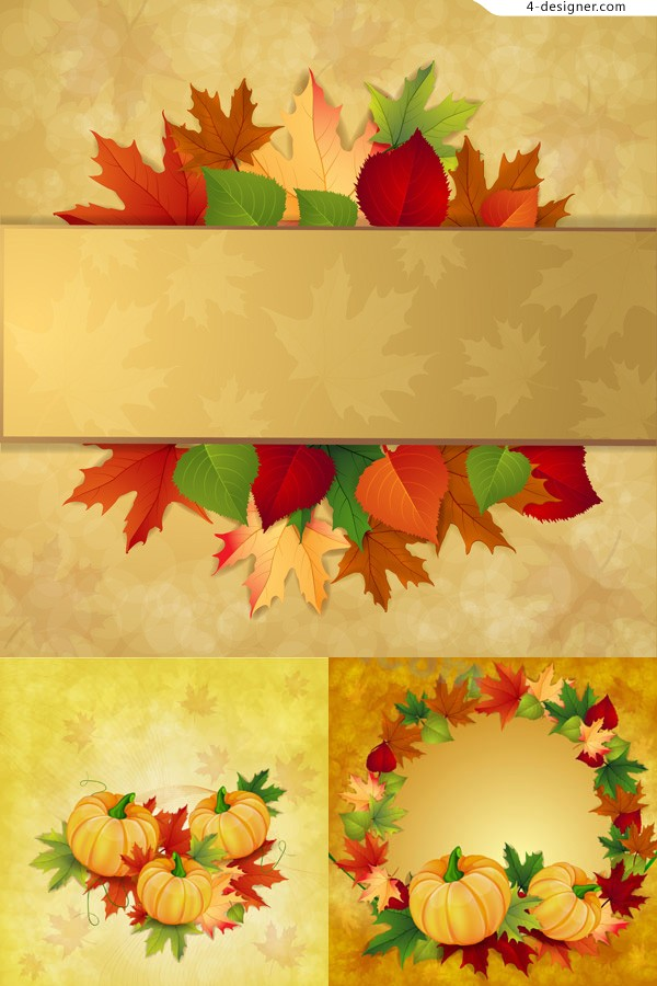 Vector material of attractive autumn background