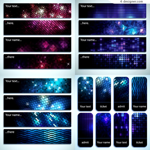 Vector material of background with Starry shining effect