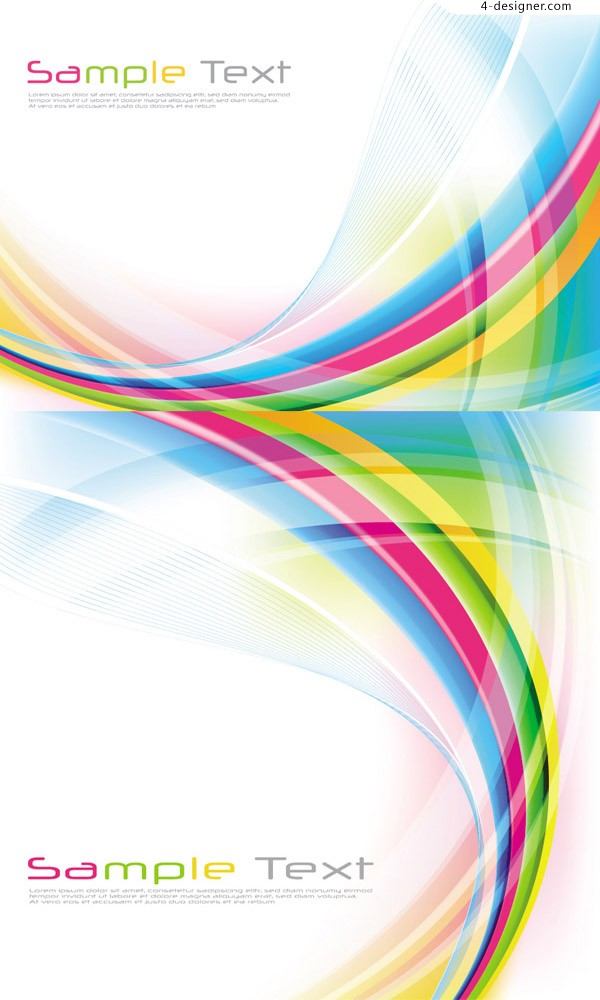 Vector material of background with fantasy rainbow dynamic lines