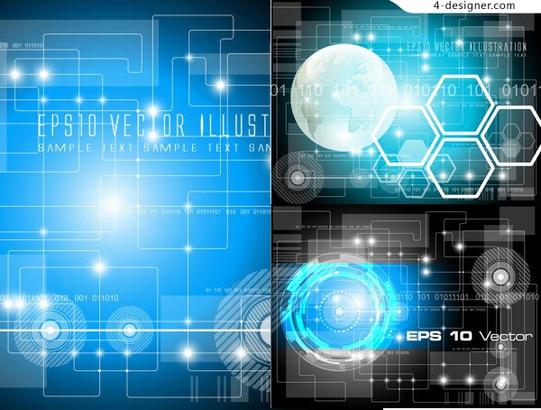 Vector material of background with flash technology theme