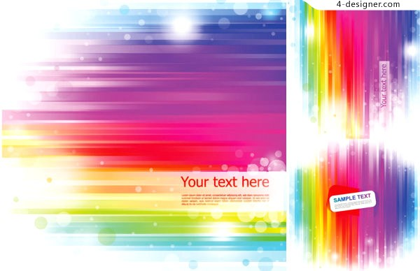 Vector material of background with fresh and stylish stripes
