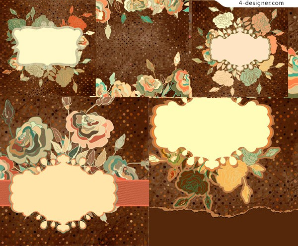 Vector material of beautiful flowers background
