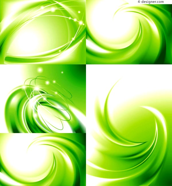 Vector material of beautiful green striking background