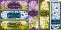 Vector material of blooming flower banner background