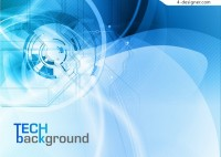 Vector material of blue technology background