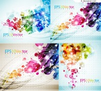 Vector material of brilliant dynamic graphic background