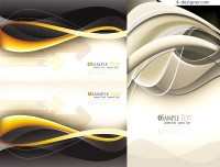 Vector material of card background with fashion dynamic lines