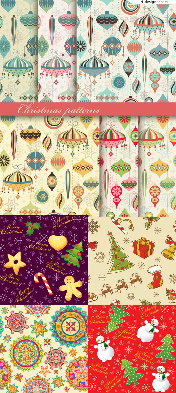 Vector material of cartoon Christmas background