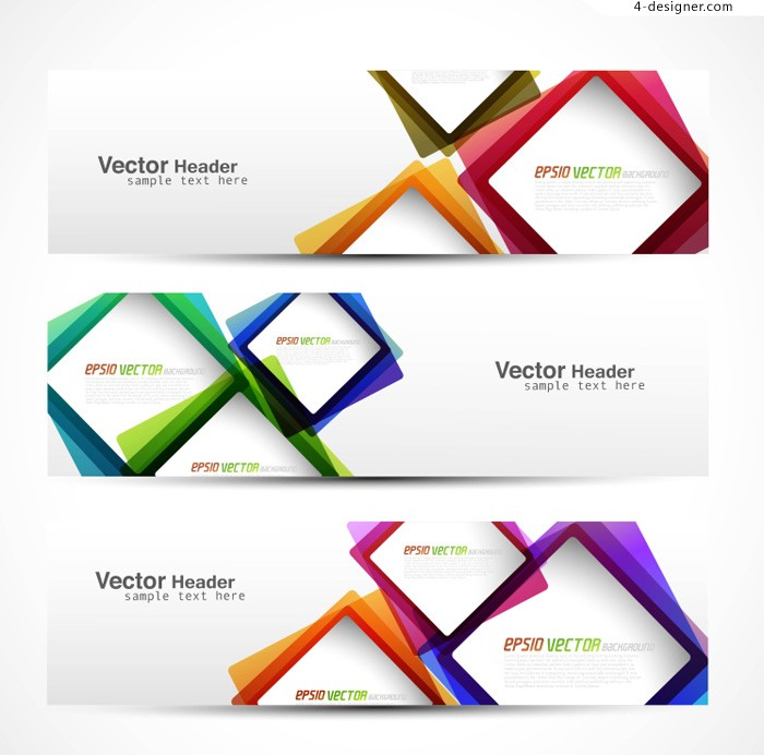 Vector material of color creative banner