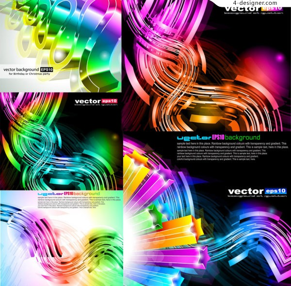 Vector material of colorful 3D dynamic background