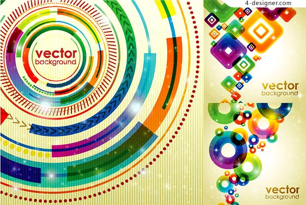 Vector material of colorful 3D graphics background