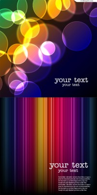 Vector material of colorful and fantasy background