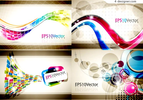 Vector material of colorful dynamic flow lines background