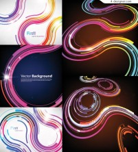 Vector material of colorful dynamic track background