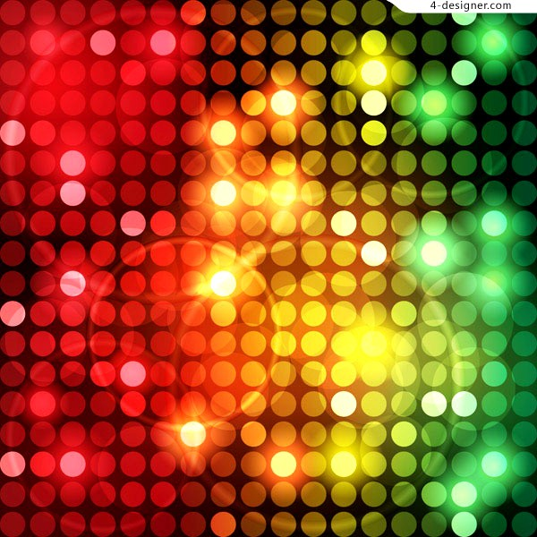 Vector material of colorful fantasy dot background