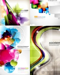 Vector material of colorful graphics space background