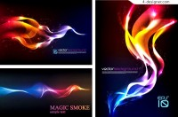 Vector material of colorful smoke background