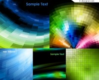 Vector material of colorful space mosaic background