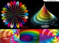 Vector material of colorful space stunning background