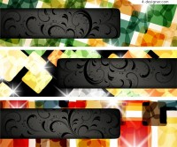Vector material of cool banner background