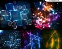 Vector material of cool light background