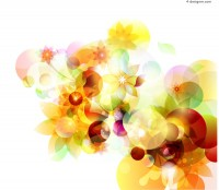 Vector material of creative flowers background