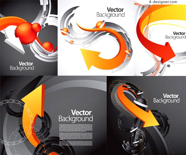Vector material of dynamic arrow business background