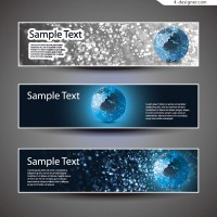 Vector material of dynamic technology banner