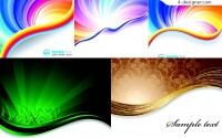 Vector material of energetic and colorful spiral background