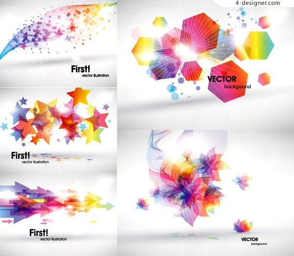Vector material of fantasy background composed of simple graphics