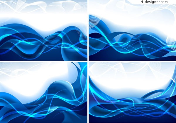 Vector material of fantasy dynamic blue lines background