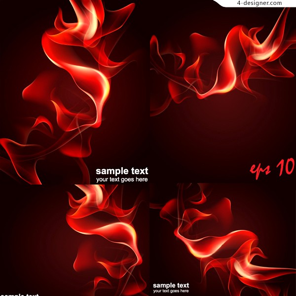 Vector material of fantasy dynamic flame background