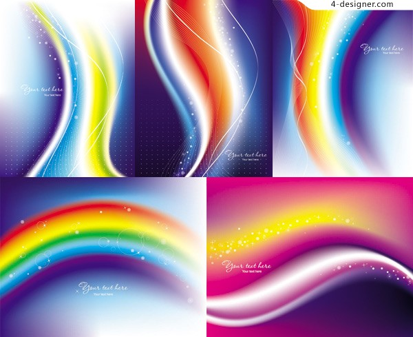 Vector material of fantasy rainbow background