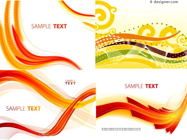Vector material of fashion dynamic lines background