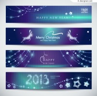 Vector material of fine 2013 New Year banner