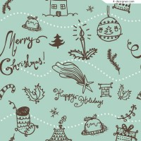 Vector material of fresh Christmas background