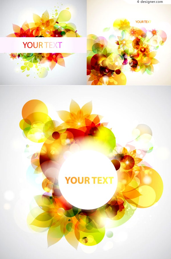 Vector material of glare fantasy flowers background