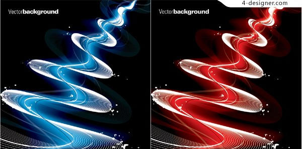 Vector material of gorgeous dynamic flow lines background
