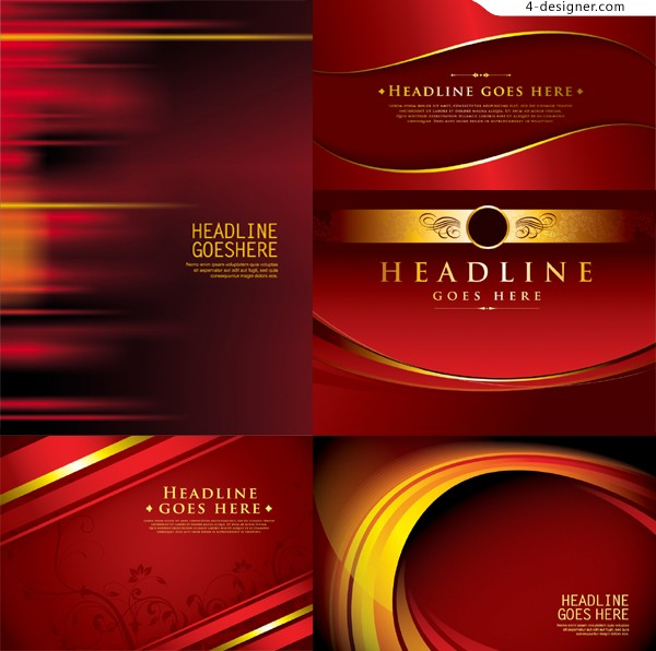 Vector material of gorgeous dynamic red background
