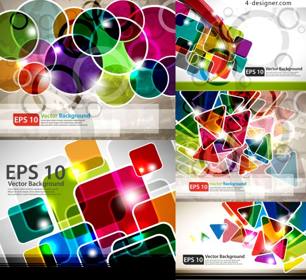 Vector material of gorgeous graphics background